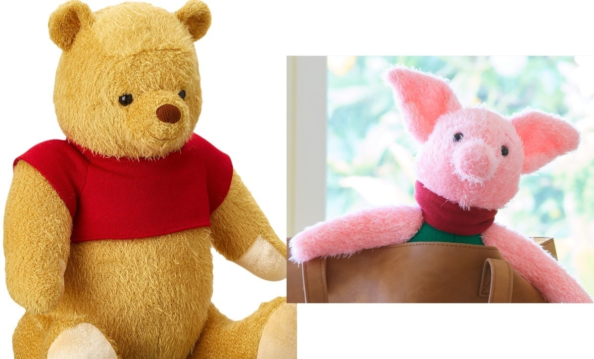 Winnie the Pooh and Piglet plush toys