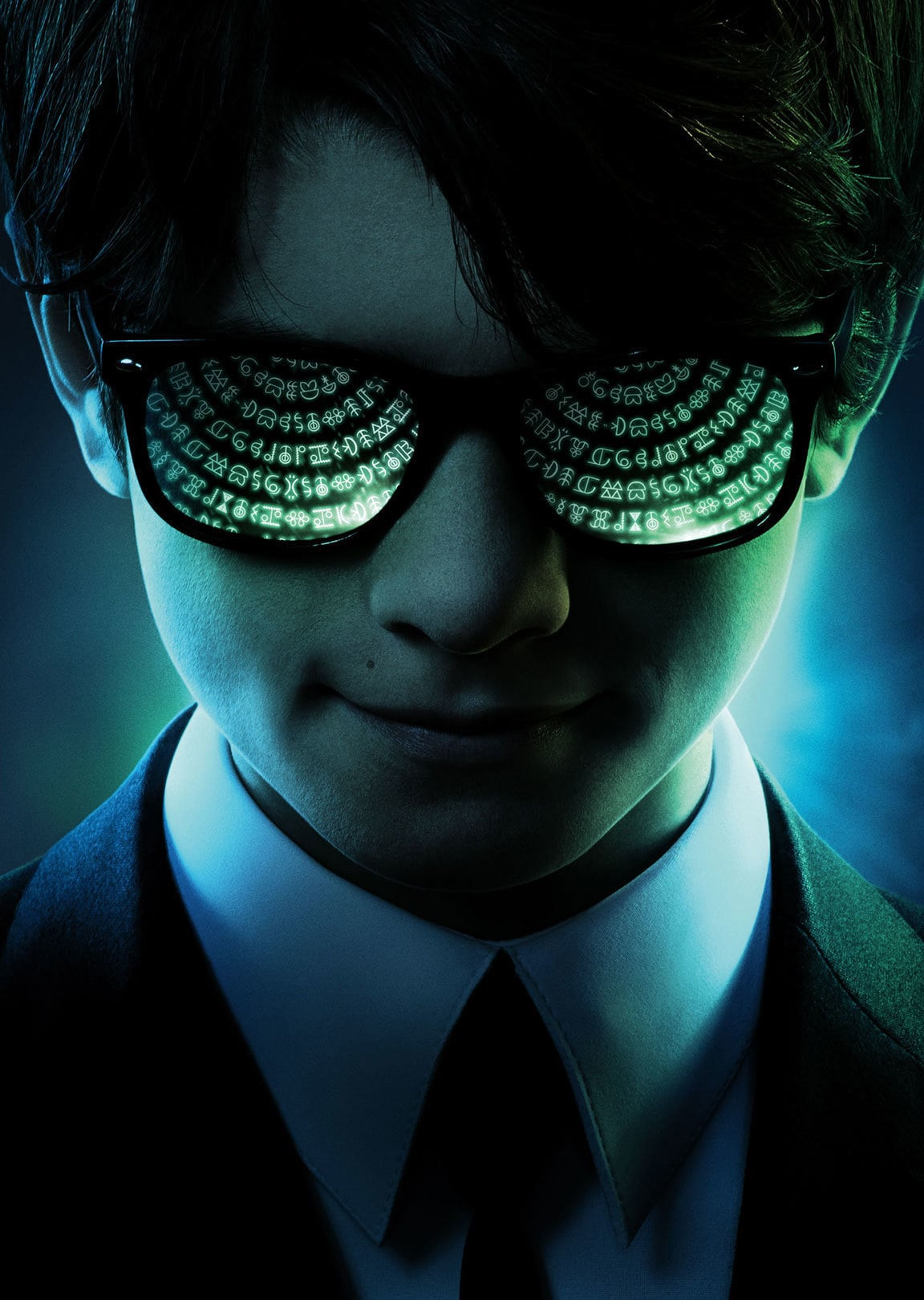 Close up of Artemis Fowl wearing sunglasses.