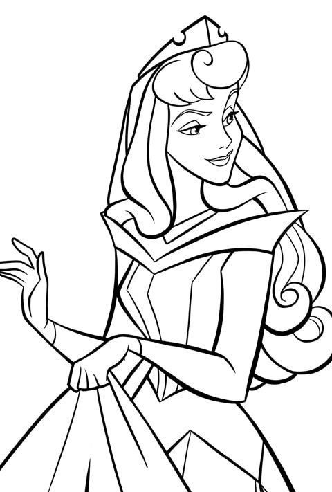 Disney Princess - Aurora Colouring Sheet