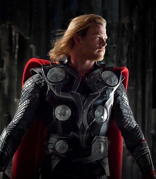 Chris Hemsworth in costume as Thor