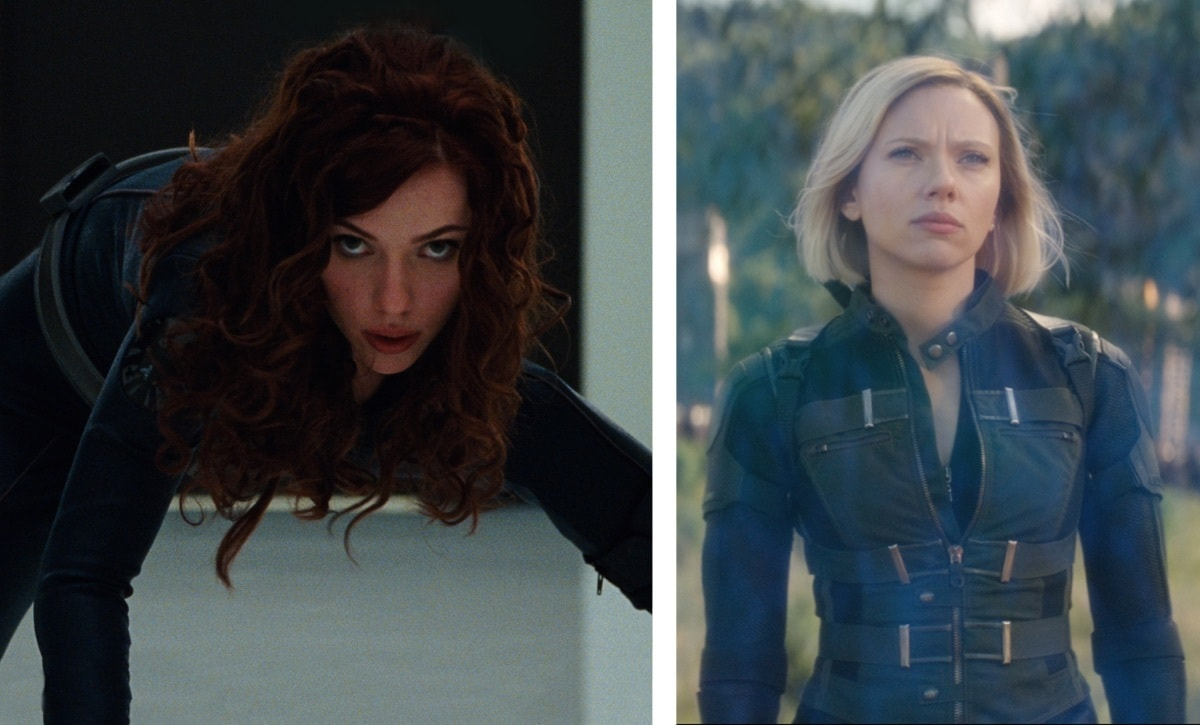 -	Black Widow (Natasha Romanoff) – Iron Man 2 (2010) & Avengers: Infinity War (2018)