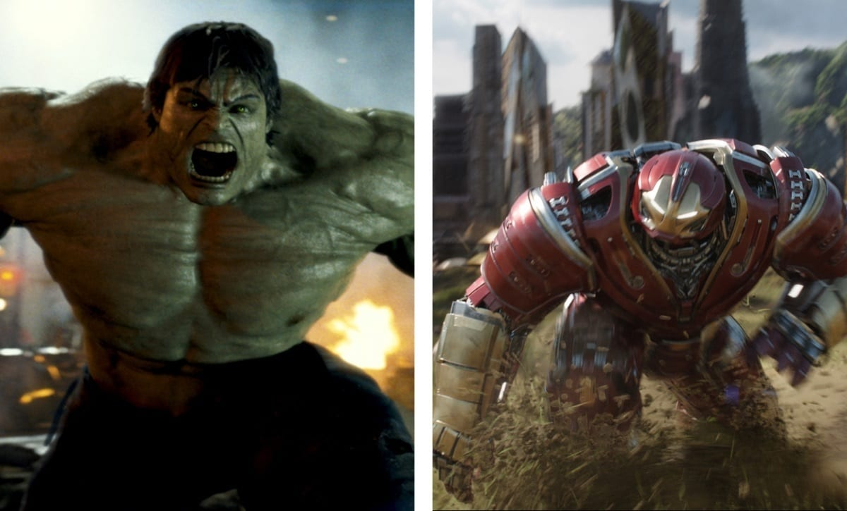 The Incredible Hulk (Bruce Banner) – The Incredible Hulk (2008) ve Avengers: Sonsuzluk Savaşı (2018)