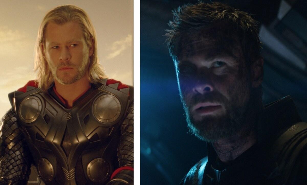 Thor – Thor (2011) e Vingadores: Guerra do Infinito (2018)