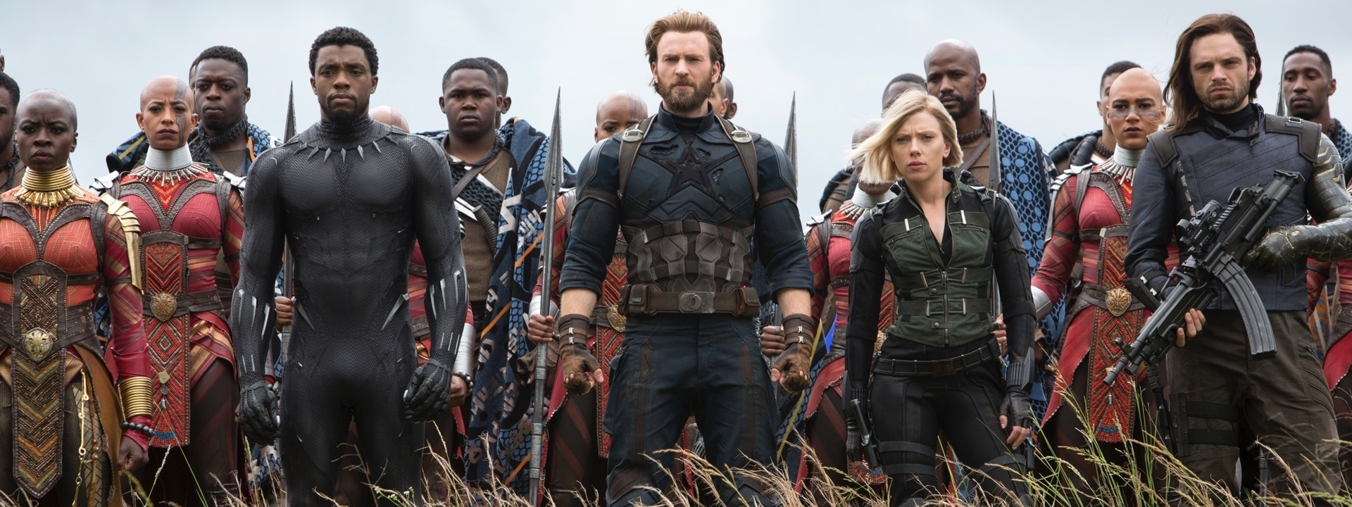 'Avengers Infinity War' Wakanda Battle with Black Panther, Captain America, Black Widow and Bucky