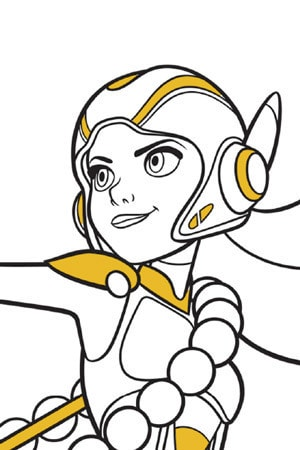 Honey Lemon Colouring Page