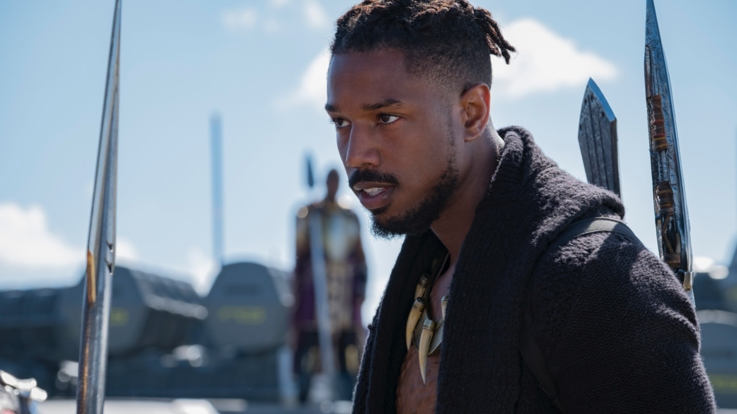 Close-up of Erik Killmonger