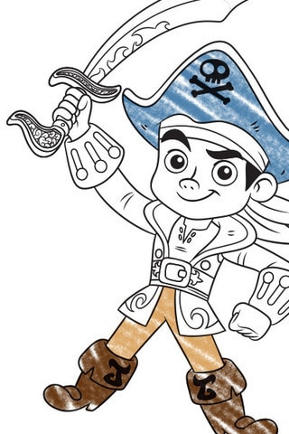 Captain Jake Colouring Page 1