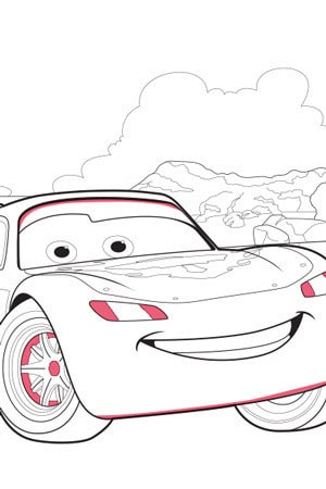 Cars Colouring Pages  Activities  Disney Create