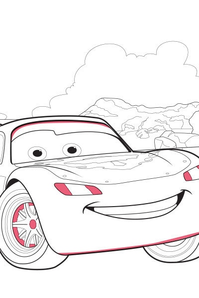 Coloriage Flash McQueen