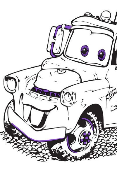 Mater Colouring Page