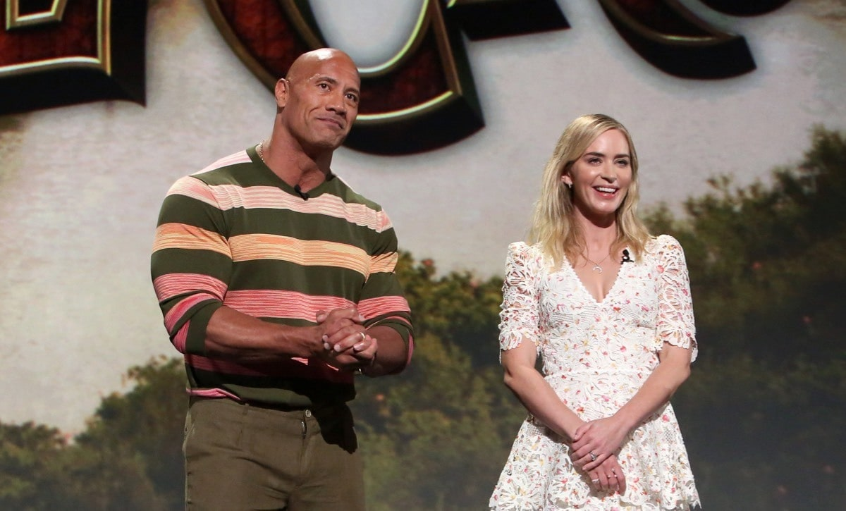 Dwayne 'The Rock' Johnson and Emily Blunt present Jungle Cruise at D23 Expo 2019.
