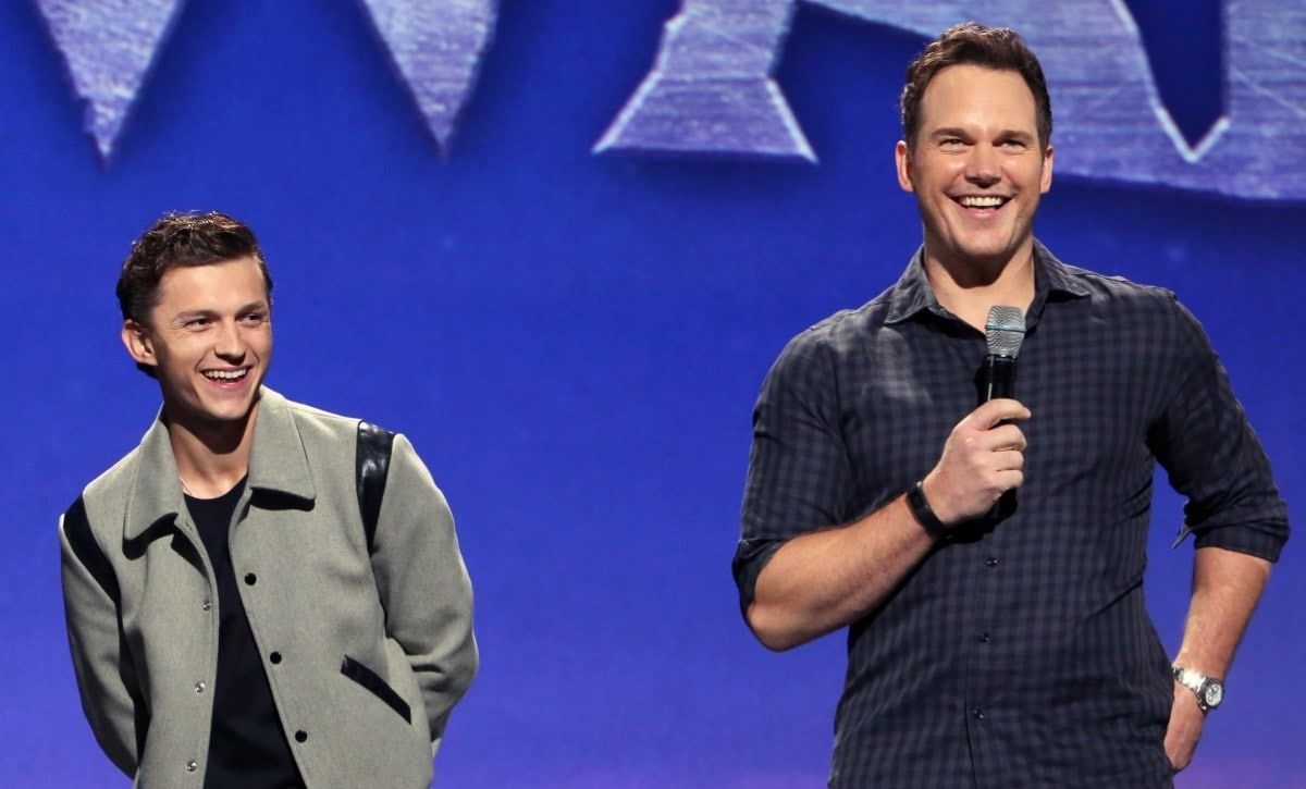 Tom Holland and Chris Pratt present Pixar's Onward at D23 Expo 2019.