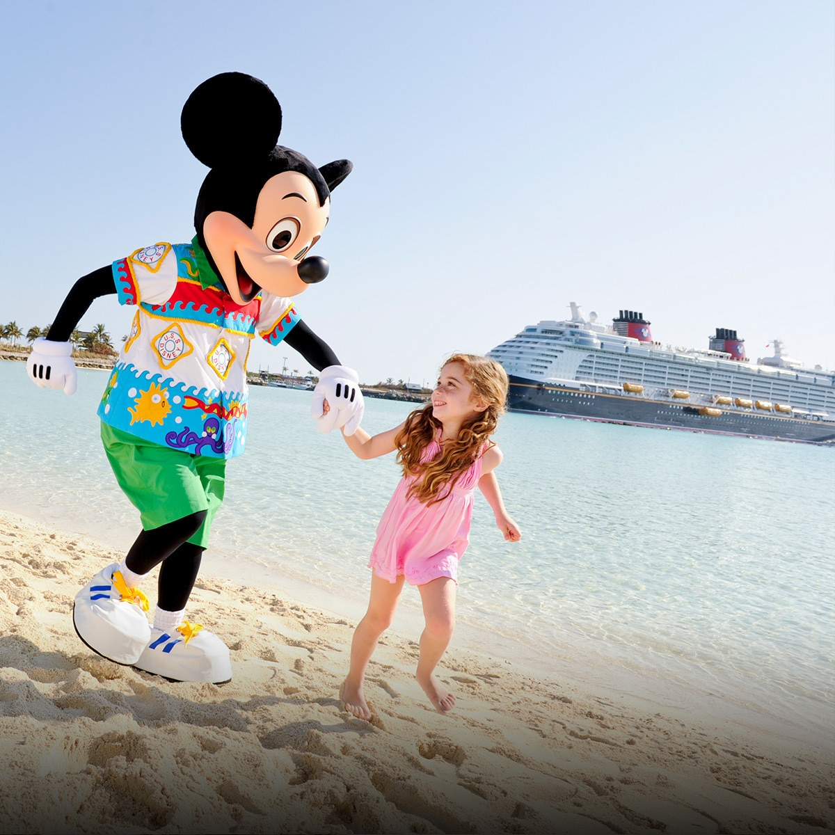 Mickey Mouse and family on the beach