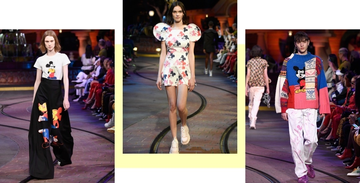 Women on runway in Mickey x Opening Ceremony dress