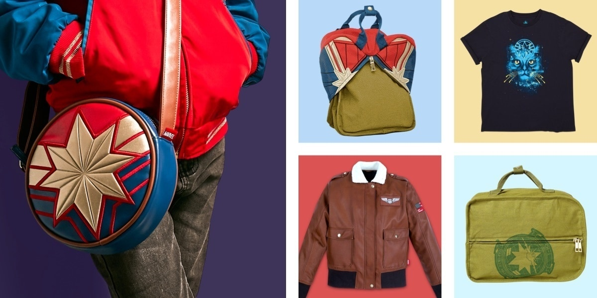 A range of clothing and accessories inspired by Captain Marvel