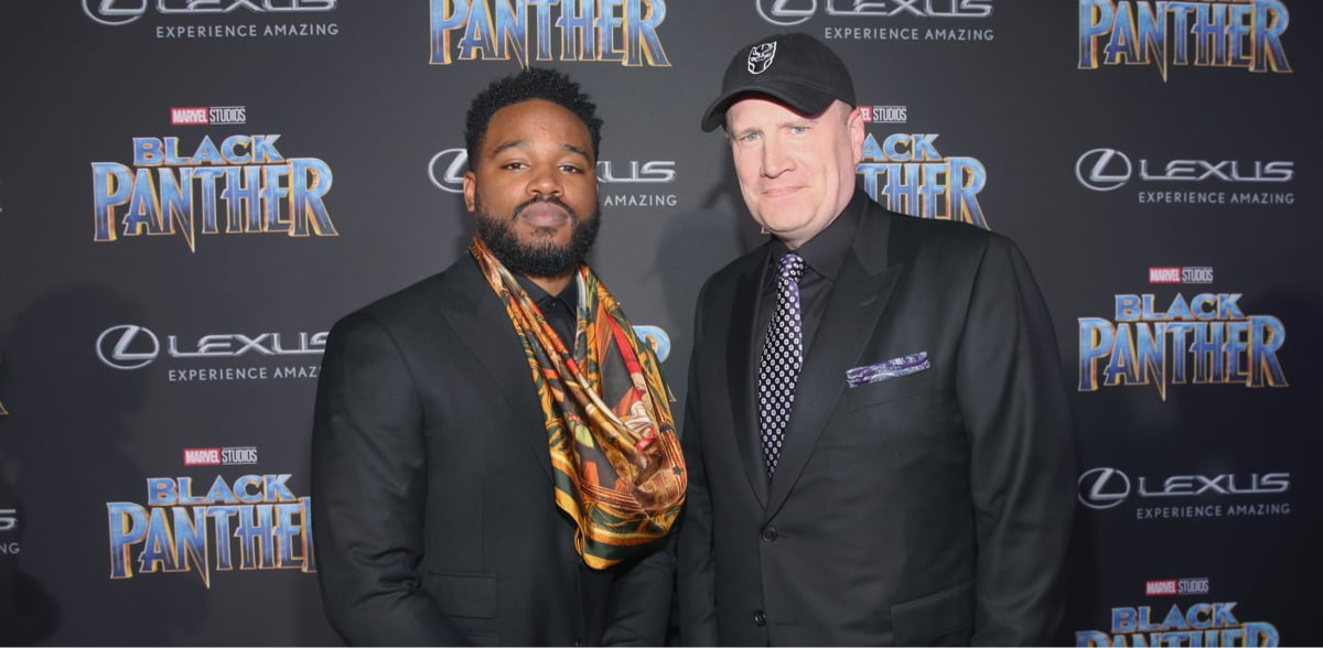 Close-up of Kevin Feige and Ryan Coogler at the Black Panther Premiere