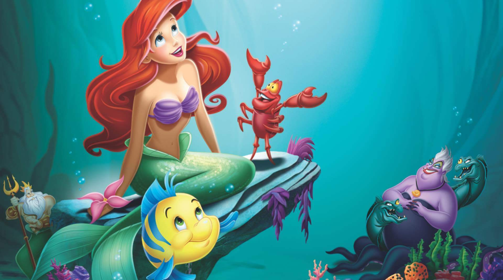 A still image from the Little Mermaid