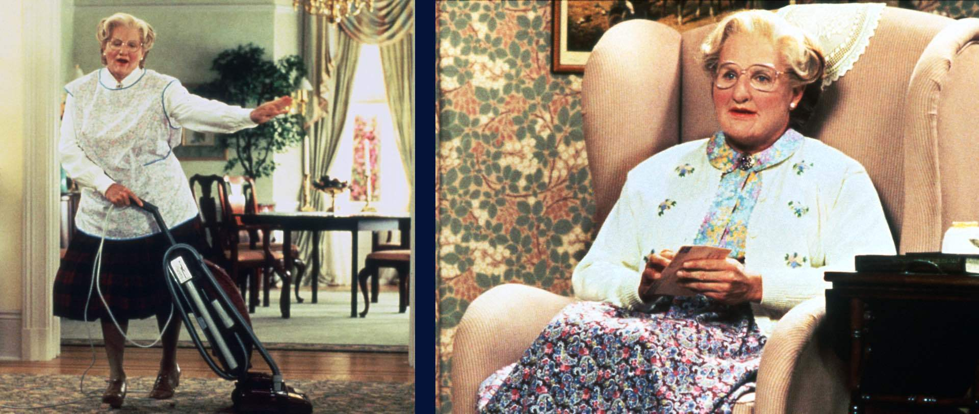 A still image from Mrs Doubtfire