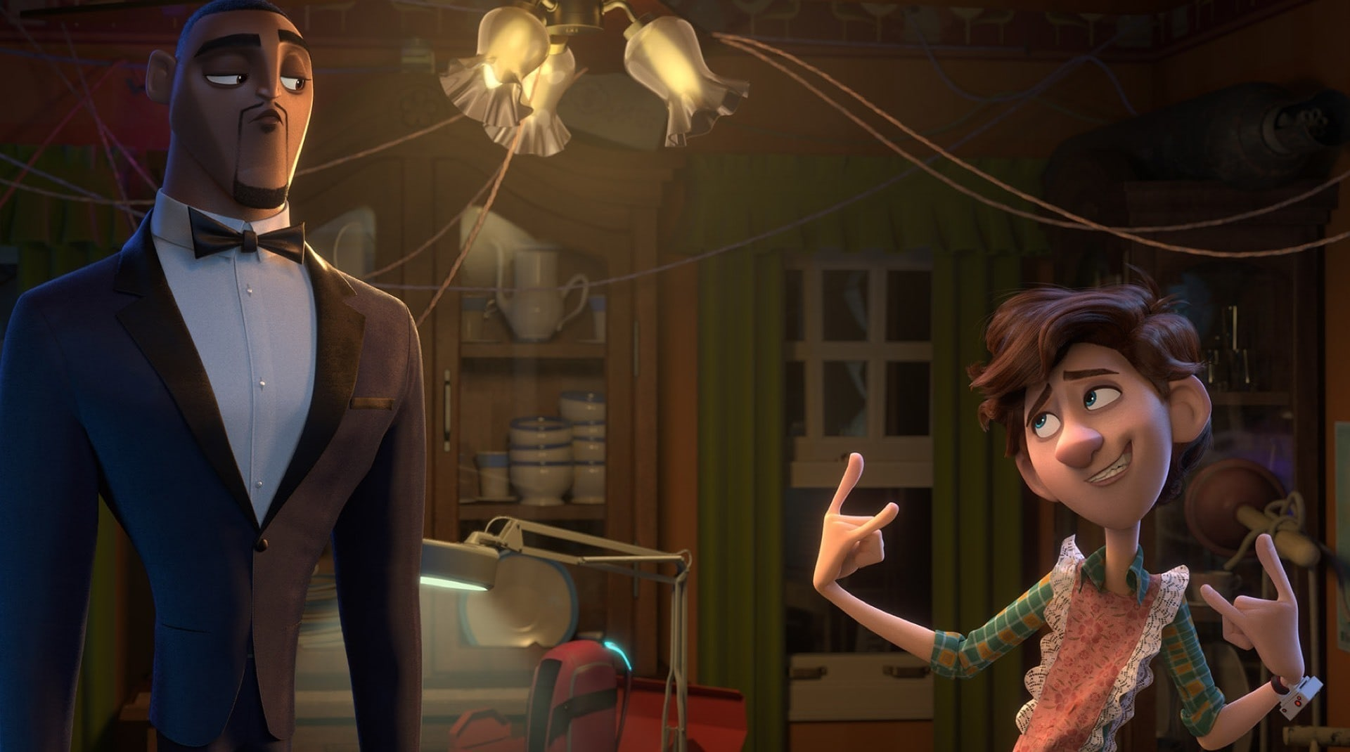 A still from Spies in Disguise