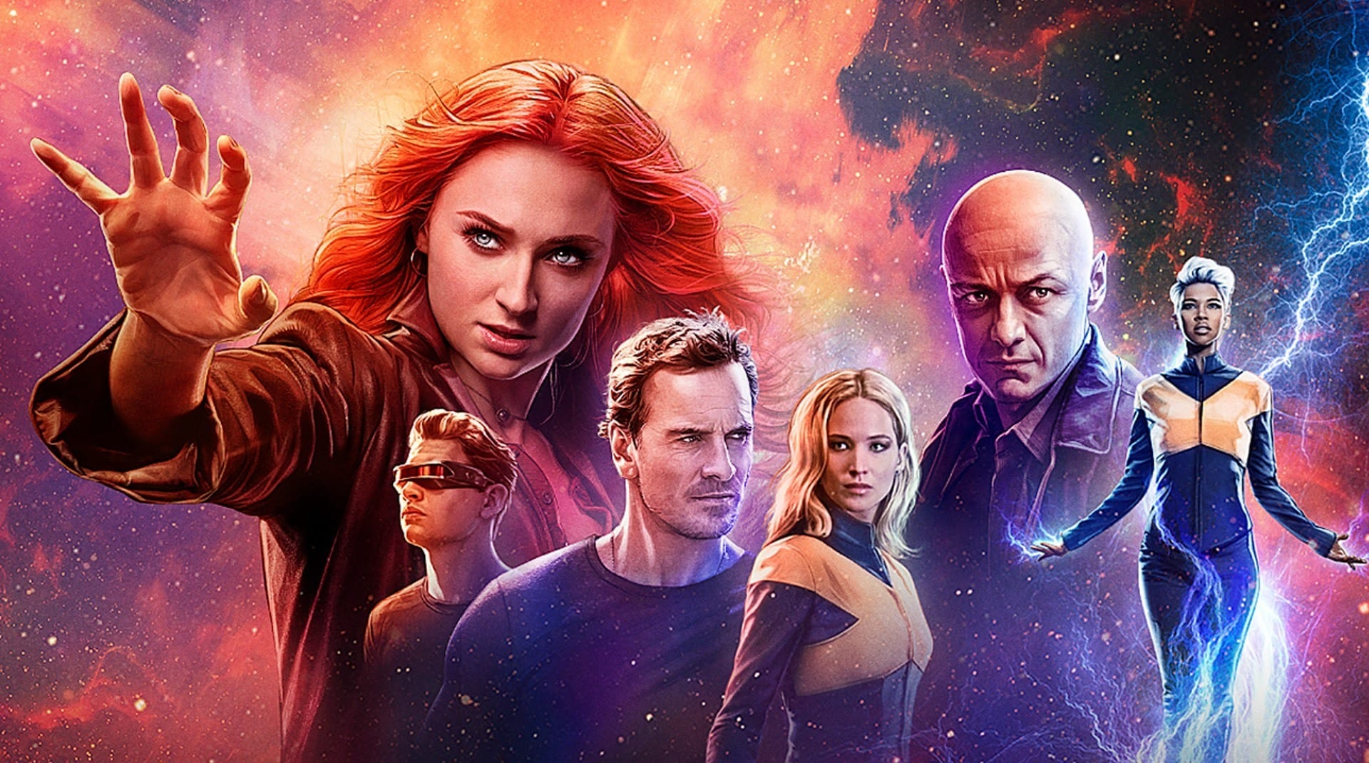 Un poster del film X-Men: Dark Phoenix