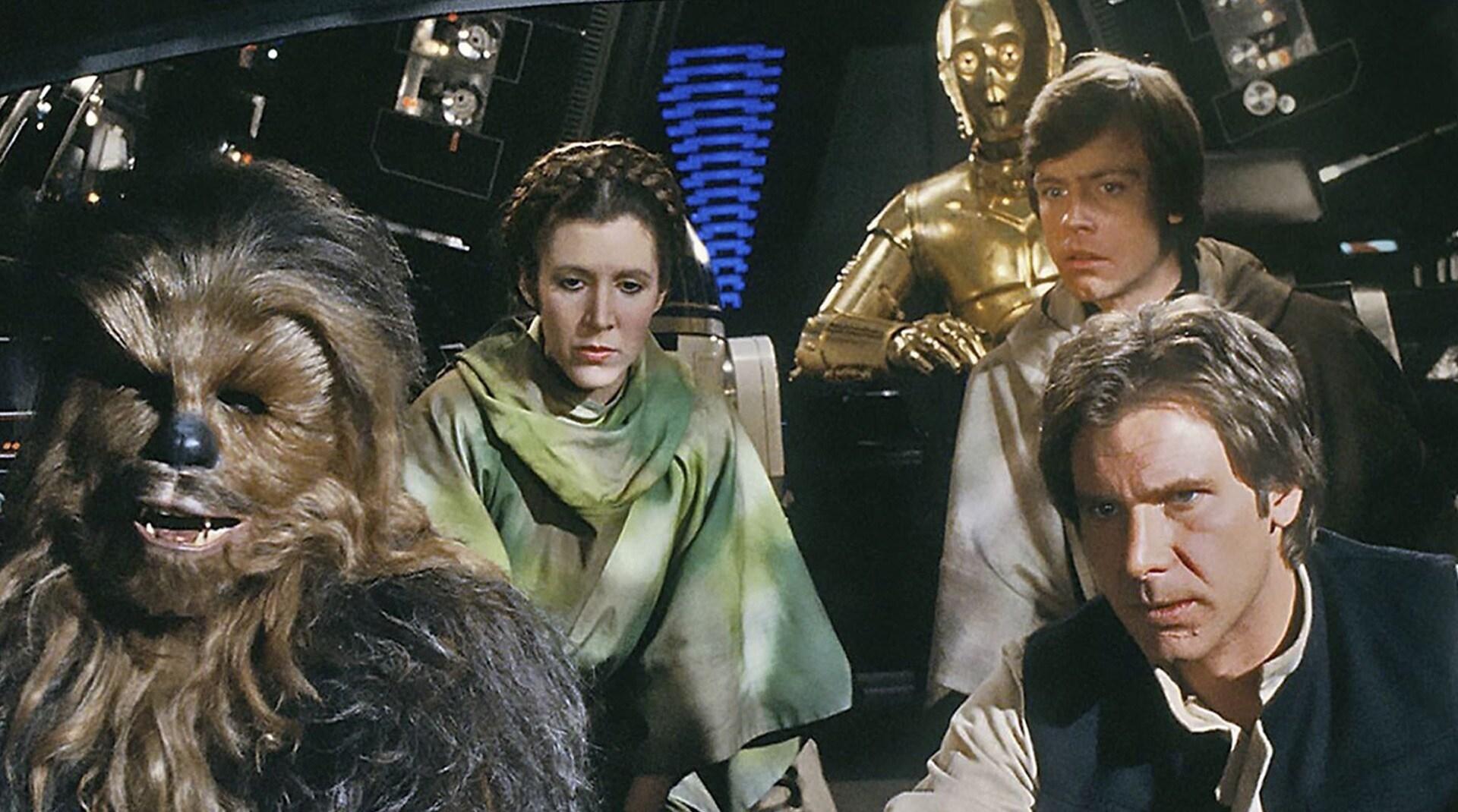 Una imagen de Han Solo y Chewbacca de Star Wars.