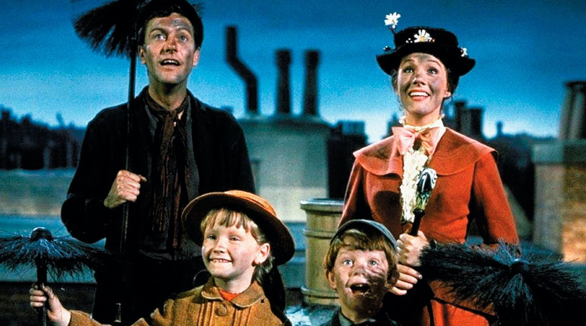 Una imagen de Mary y Bert de Mary Poppins
