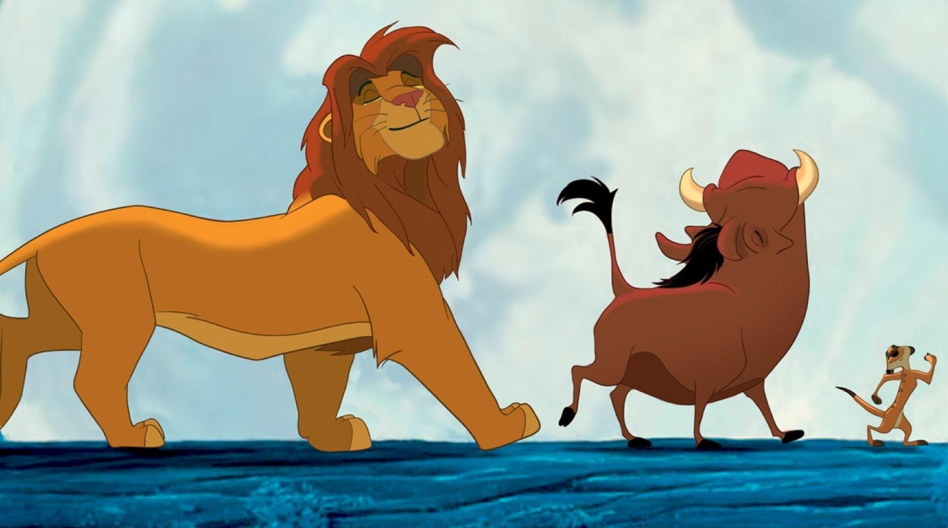 Una imagen de Timón y Pumba de El rey león