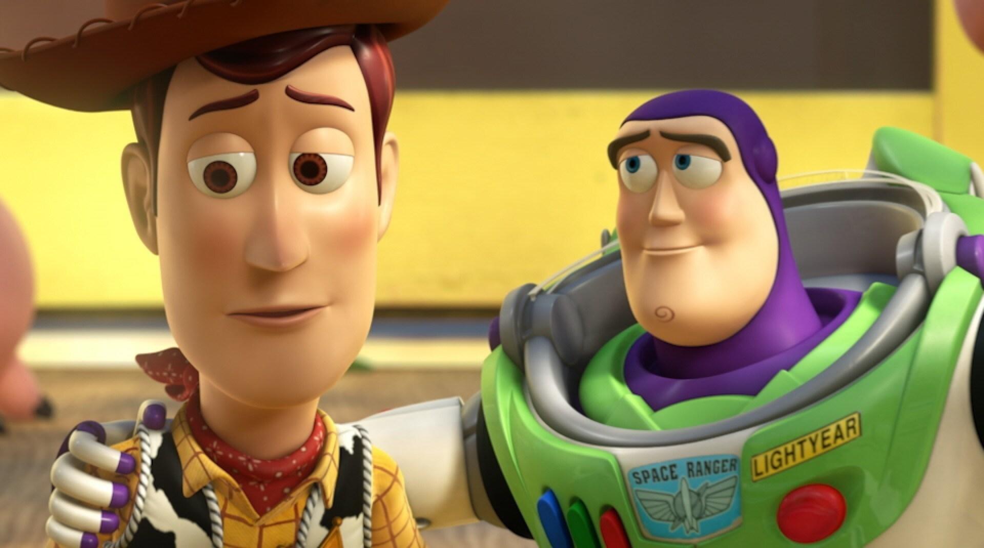 Un'immagine di Woody e Buzz tratta da Toy Story