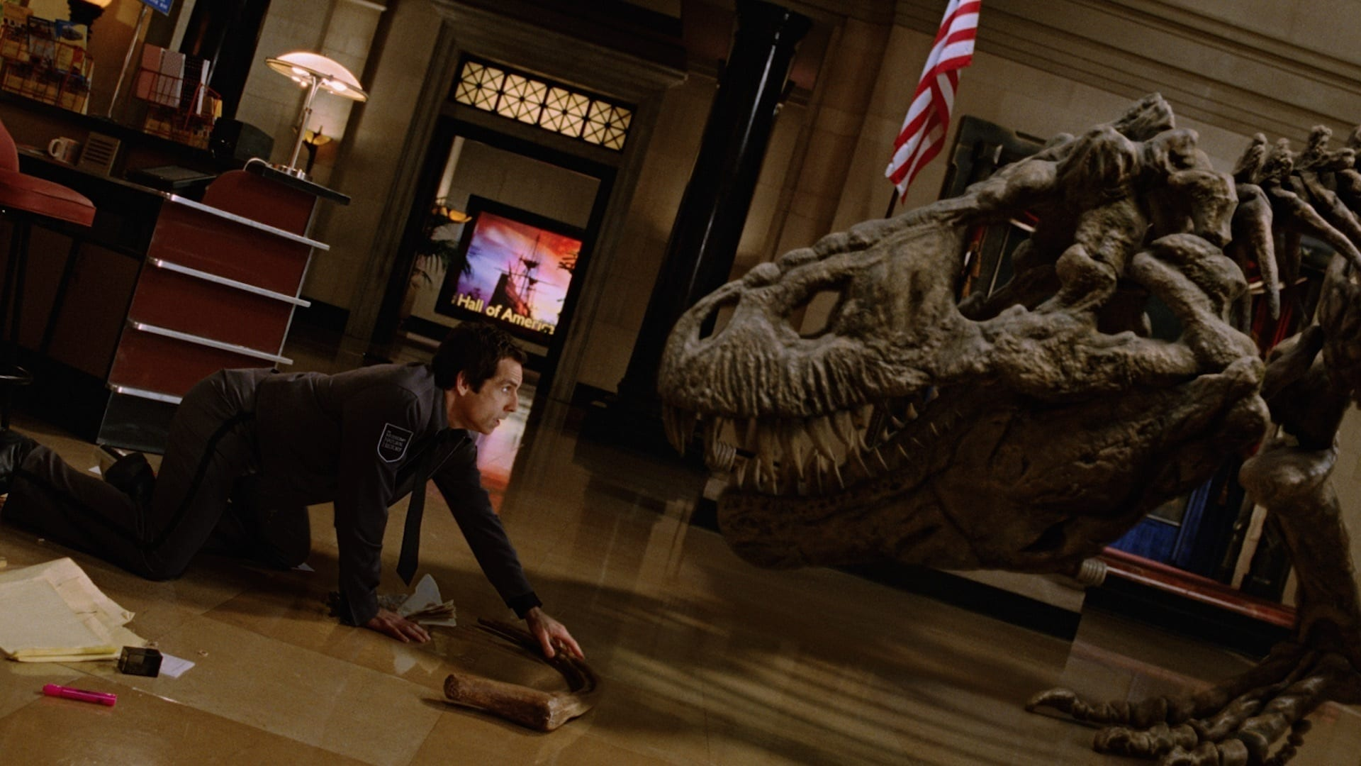 A still image from Night at the museum