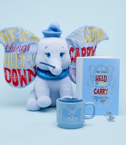 Disney Wisdom Dumbo Collection of toys, notebooks, mugs and pins