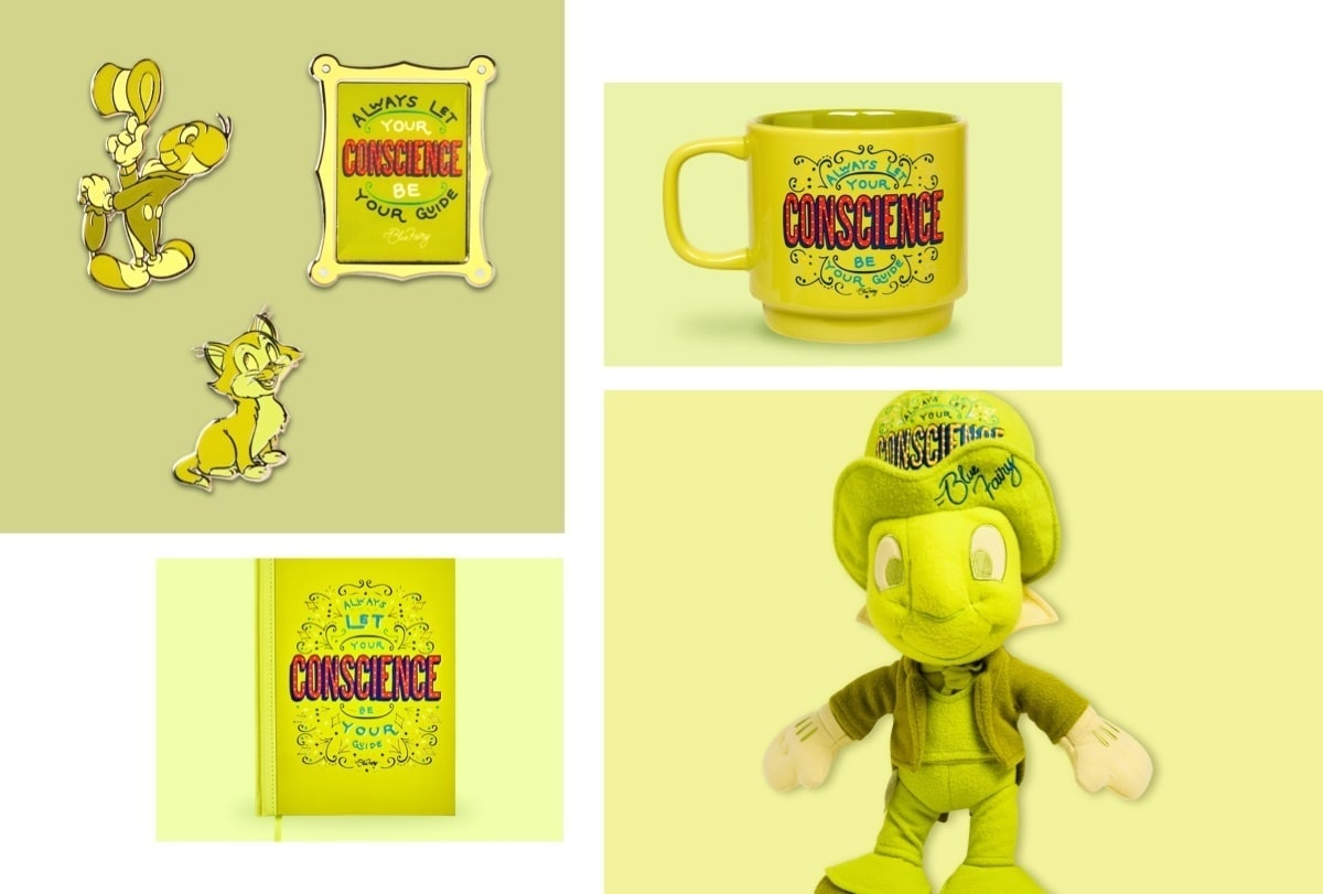 Jiminy Cricket Soft Toy, Jiminy Cricket Notebook, Jiminy Cricket Pins and Jiminy Cricket Mug