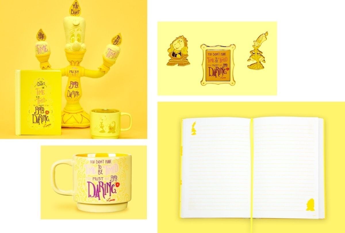 Lumiere inspired Soft Toy, Notebook, Pins and Mug