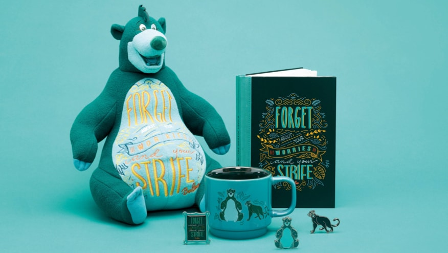Baloo Soft Toy, Baloo Notebook Baloo Pin Set and Baloo Mug