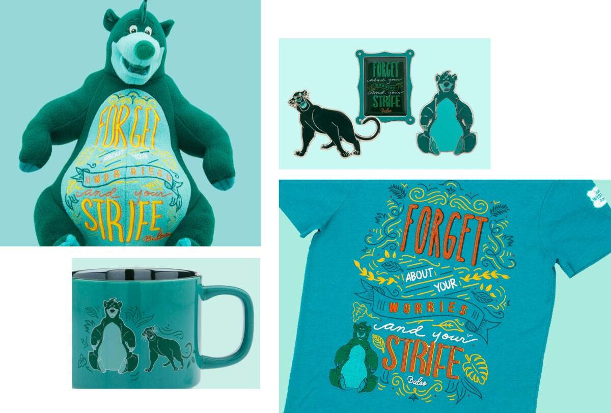 Baloo Soft Toy, Baloo Notebook, Baloo Pins and Baloo Mug