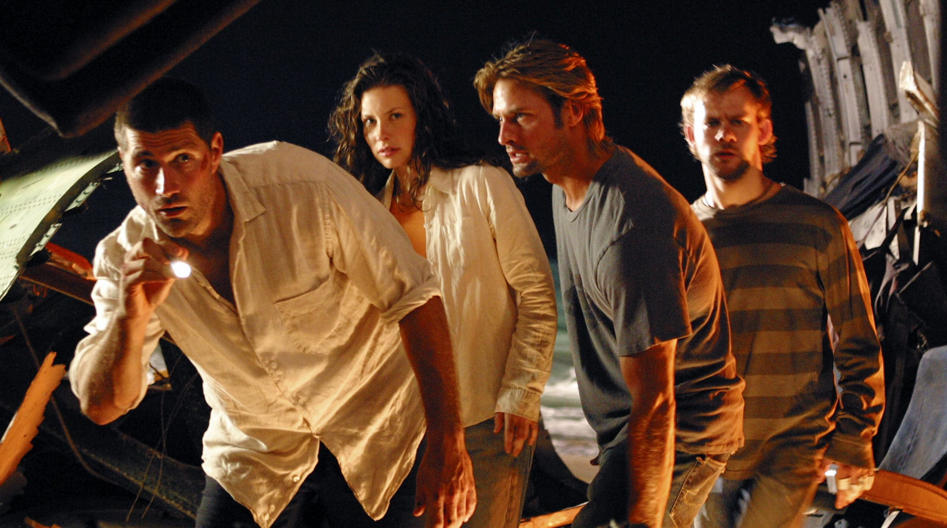 A still image from Lost
