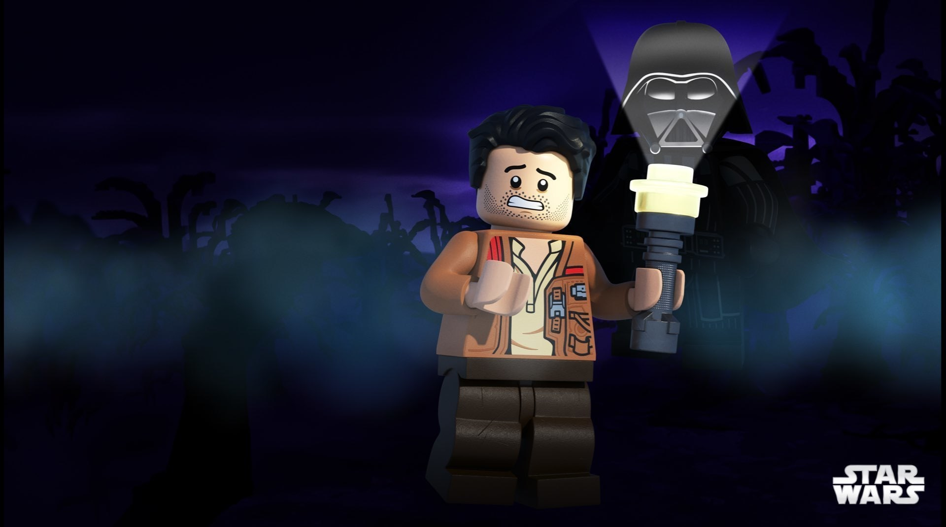 A still image from LEGO Star Wars Terrifying Tales