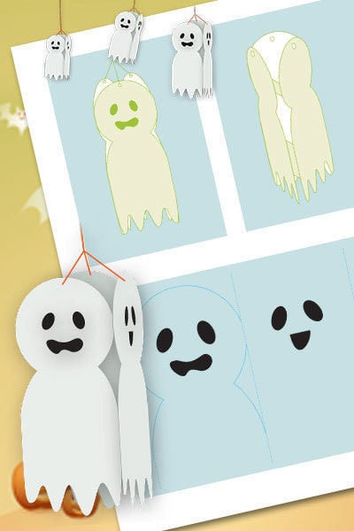Halloween Hanging Ghosts Decorations