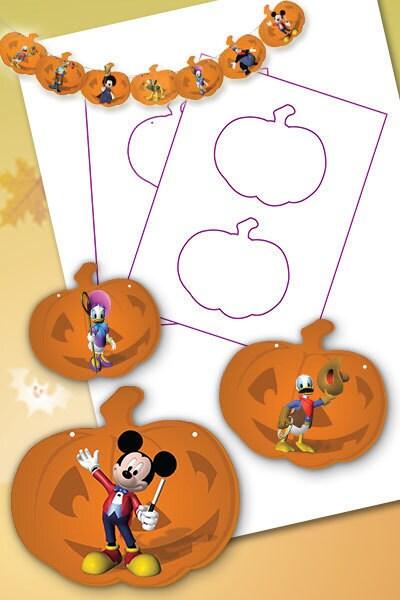 Fanion Halloween La maison de Mickey