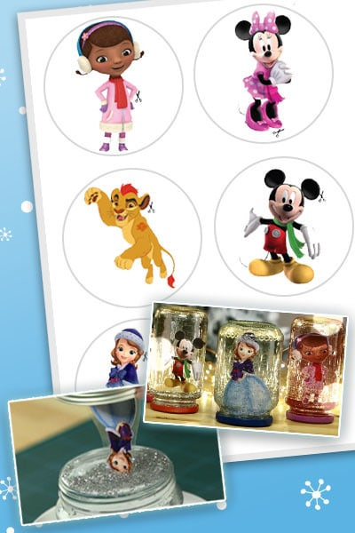 Globos de neve Disney Junior