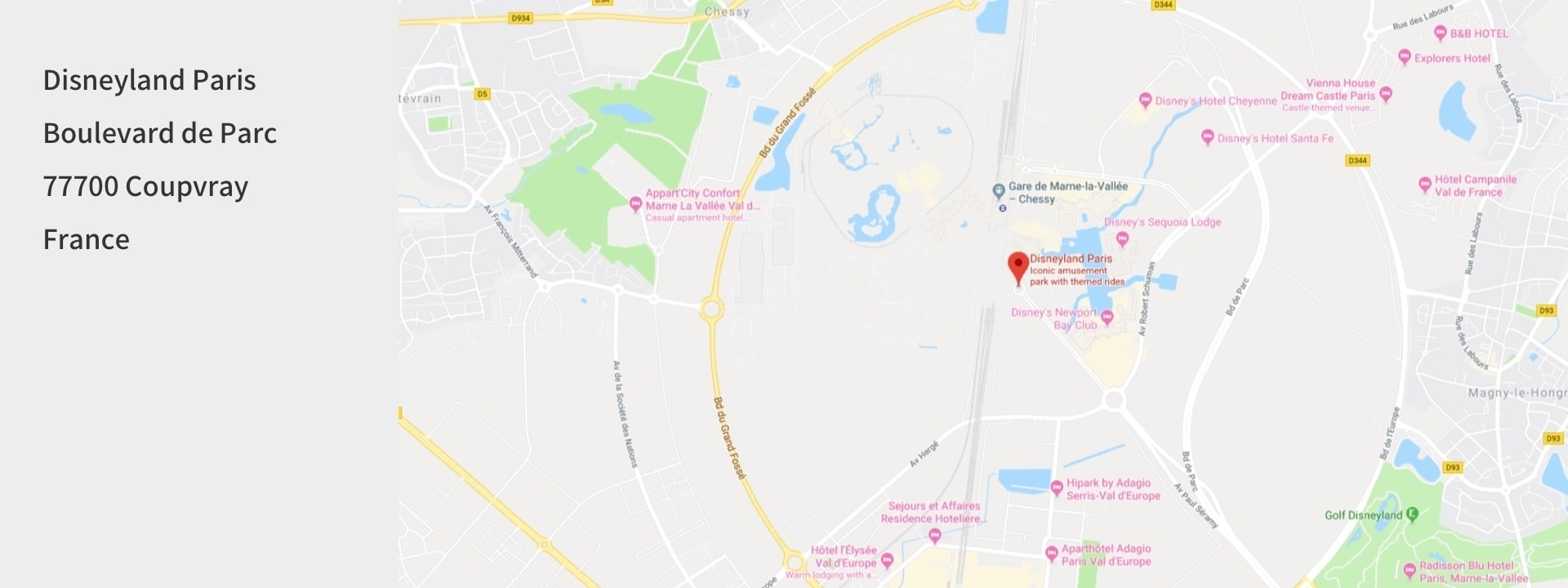 Google Maps image of Disneyland Paris