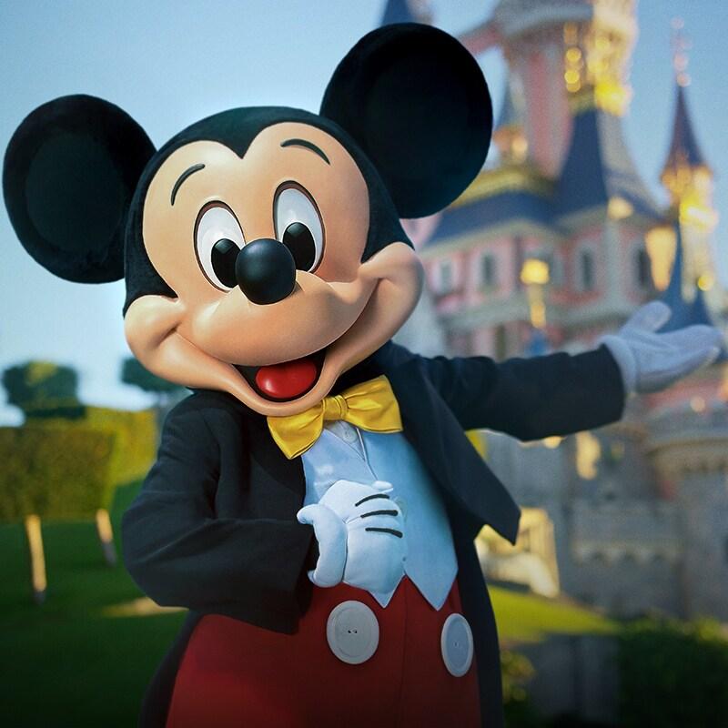 Mickey voor Het kasteel van Doornroosje