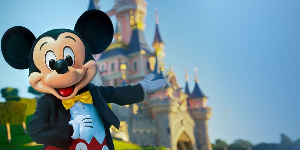 Mickey in front of Sleeping Beauty's Castle