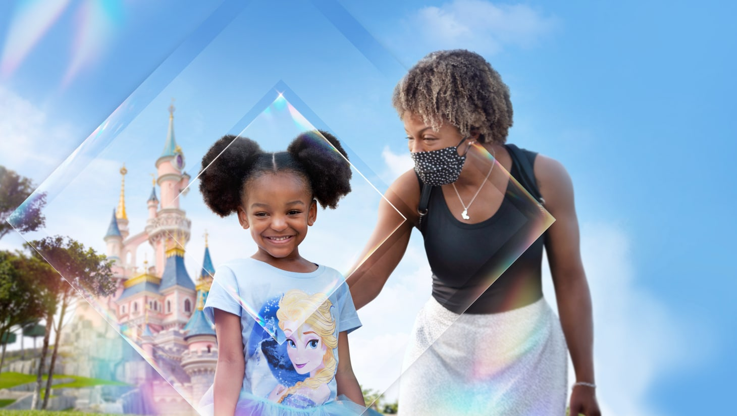 A family at Disneyland® Paris