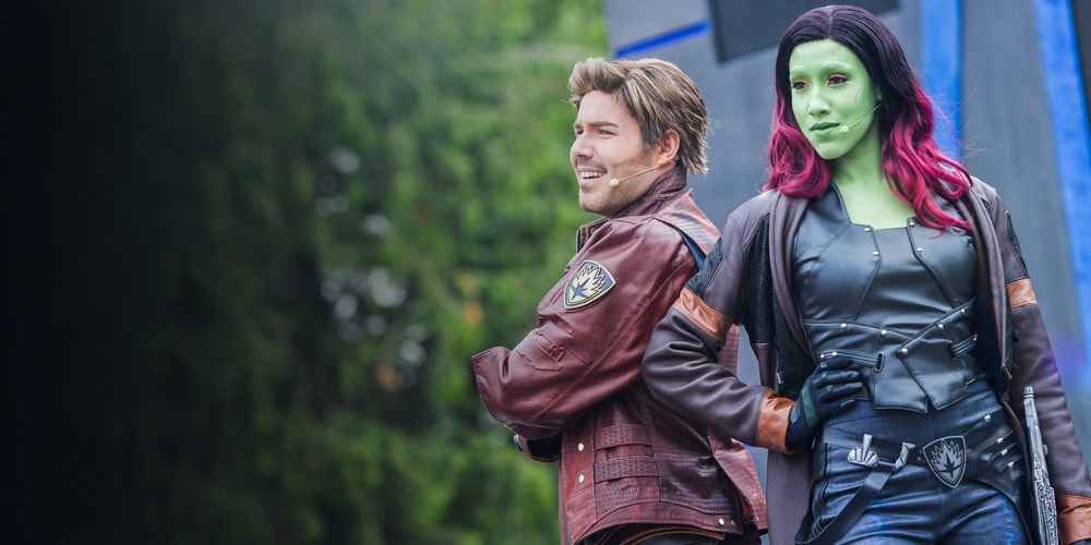 Star-Lord et Gamora à Disneyland Paris