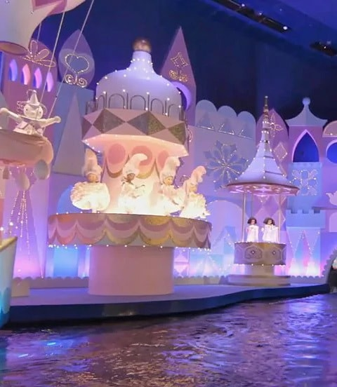 A view from inside the It's a Small World ride