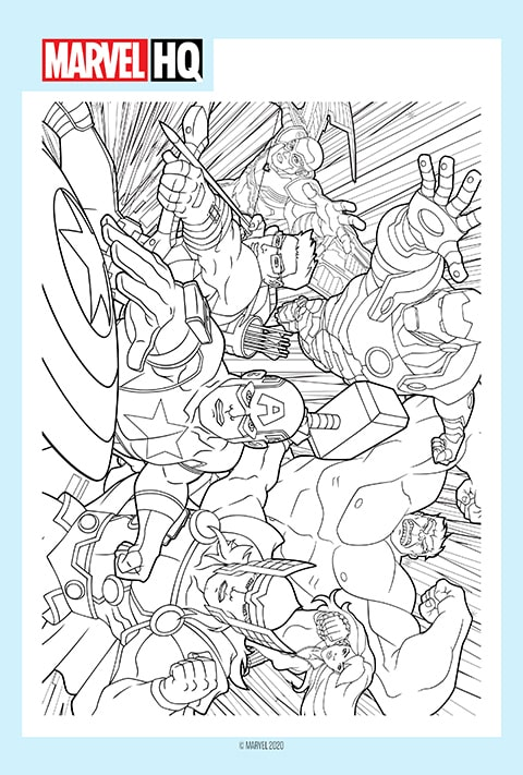 Marvel - Colouring Sheet 1 PDF