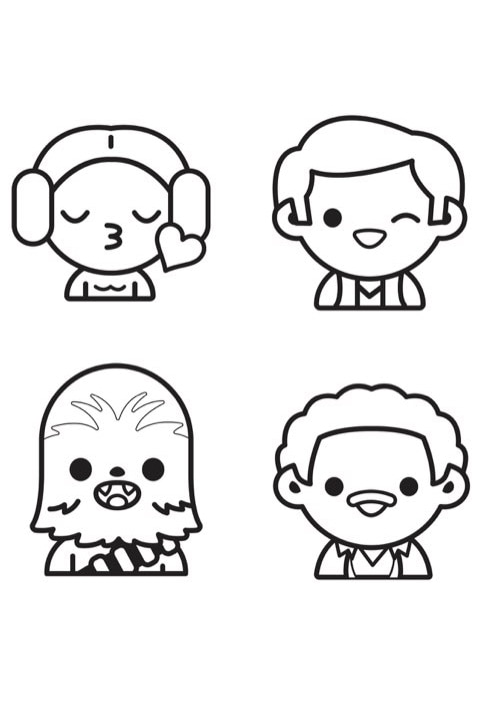 Star Wars Emoji - Colouring Sheet 1 PDF