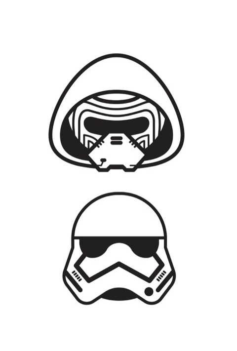 Star Wars Emoji - Colouring Sheet 2b PDF