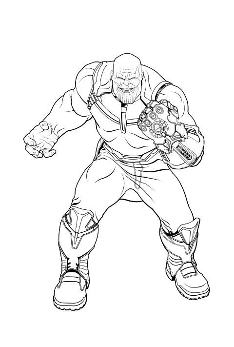 Coloreable - Thanos