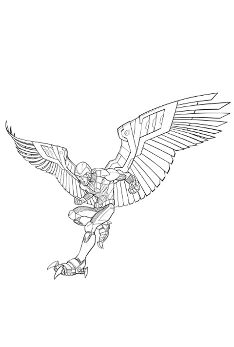 Marvel - Vulture Colouring sheet